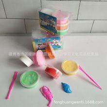 Глина в коробке, ультра-светильник, 12 цветов, пластилин, кристалл, цветная глина, космическая Снежинка, глина, песок, набор игрушек