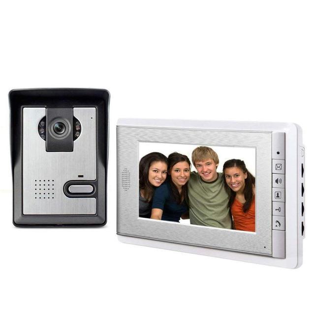 7 אינץ צג וידאו דלת טלפון אינטרקום מערכת פעמון מצלמה חזותי אינטרקום פעמון וידאו אינטרקום doorphone עבור וילה