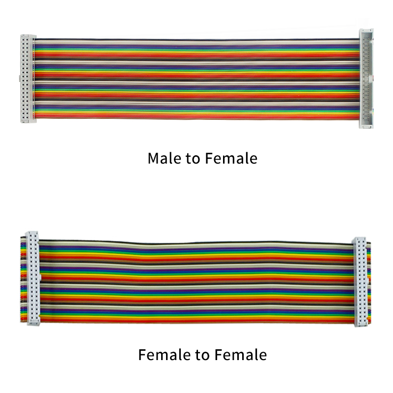 40pin GPIO Adapter Cable 20CM Male To Female GPIO Cable 2x20 Pin Female To Female Rainbow Cable For Raspberry Pi 4 3B 3B+
