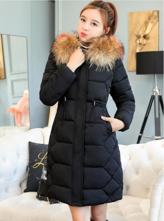 2019 New collection Fashion Slim Women Winter Jas Cotton Wet -coated Thicken Ladies Jas Long Jackets   Parka   Women's Jackets