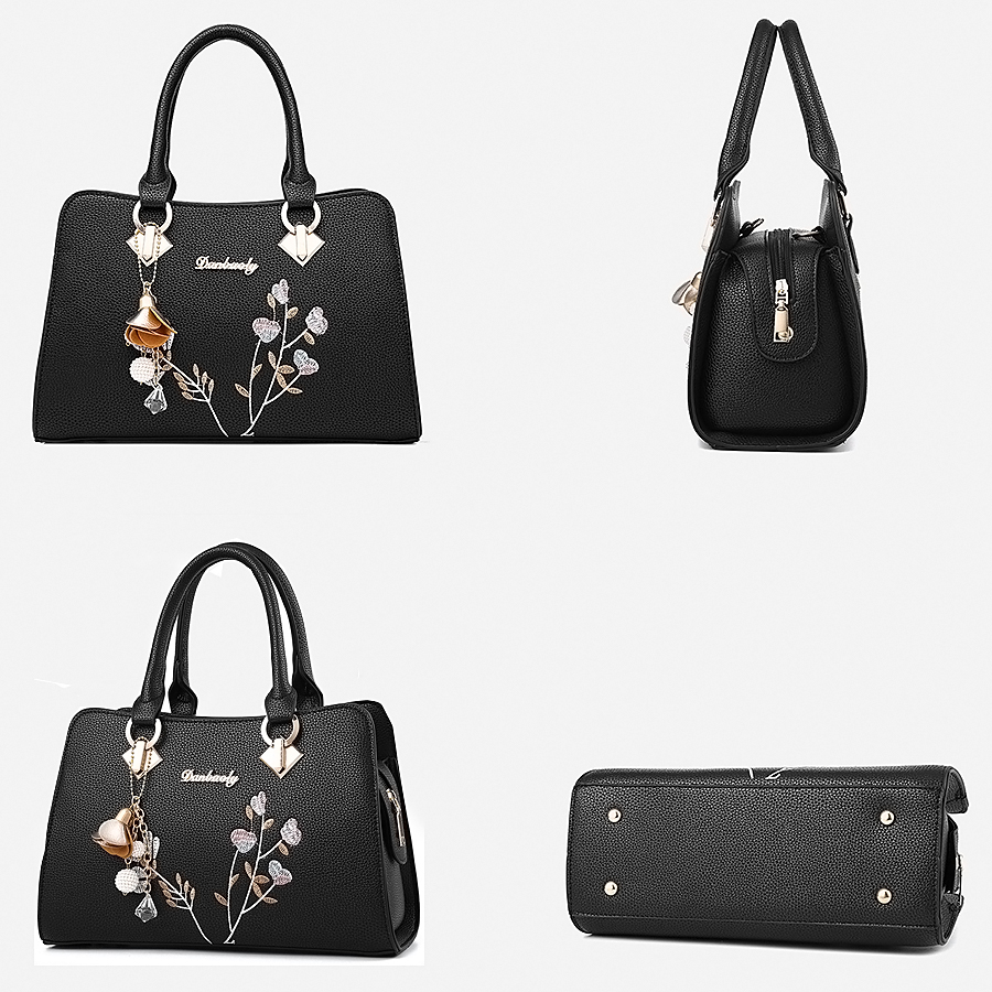 сумка 2020 жен Fashion New Ladies Handbags Shoulder Fashion Embroidery Bags Large Capacity Leather Ladies Bags сумка через плечо