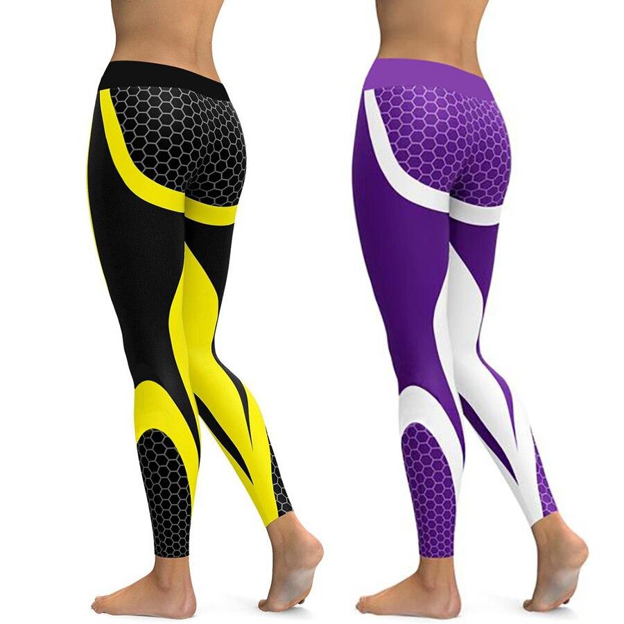Honeycomb Carbon   Leggings   Women Fitness Wear Workout Sports Running   Leggings   Push Up Gym Elastic Slim Pants