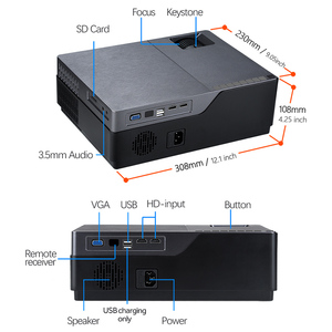 Image 5 - AUN Full HD 1080P Proiettore M18UP, 5500 Lumen, android 8.0 WIFI Bluetooth Video Beamer per 4K Home Cinema (Opzionale M18 AC3)