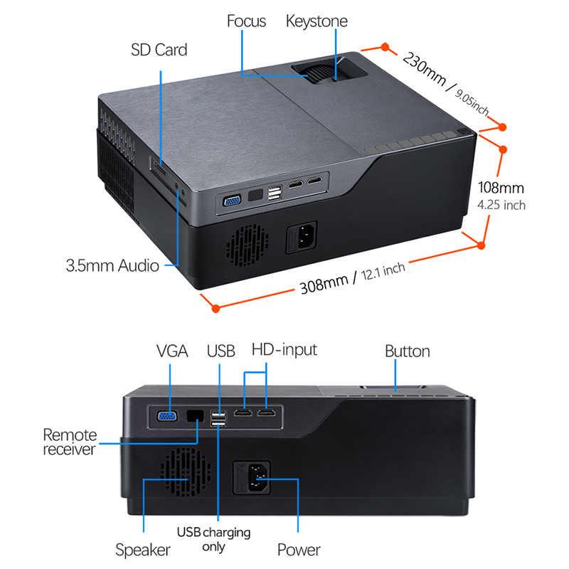 AUN Full HD 1080P projecteur M18UP, 5500 Lumens, Android 8.0 WIFI Bluetooth vidéoprojecteur pour 4K Home Cinema (en option M18 AC3)