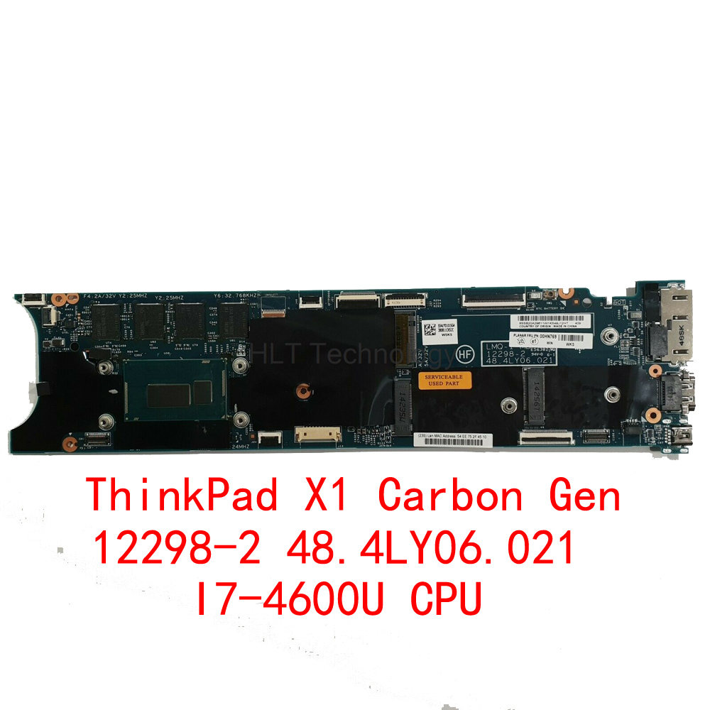 HOLYTIME Laptop motherboard for Lenovo Thinkpad X1 Carbon Gen2 Ultrabook FRU 00HN769 12298-2 SR1EA <font><b>I7</b></font>-<font><b>4600U</b></font> CPU 8GB RAM image