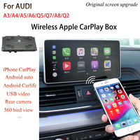 Wireless Apple CarPlay Android Auto Mirroring Video interface For Audi MMI 3G 2010 2016 A4 A5/S5 Q5, 2009 2011 A6, 2009 2015 Q7