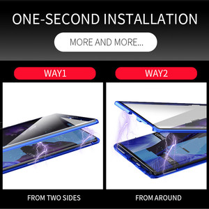 Image 4 - Ön + Arka Çift Taraflı Temperli Cam samsung kılıfı Galaxy Note 10 + 5G S9 S8 S10 Artı S10E not 10 Artı 5 5G 9 8 Manyetik Durumda