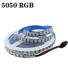 DC 12V Flexible RGB LED Strip Lights 120 Units 5050 LEDs/M Non-Waterproof Tape Multi-Colors Strips Light With Connector