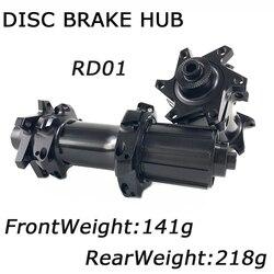 Elite RD01 Road Disc Brake Hub 24/24H 6 rygiel piasta rowerowa przód 141g QR * 100mm tył 218g QR * 135mm do roweru drogowego