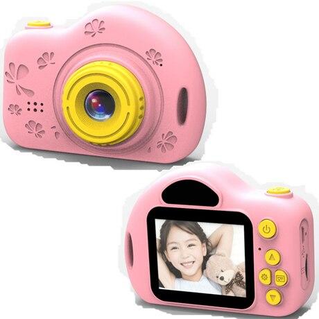 Мультяшная цифровая камера, детские игрушки, креативная развивающая игрушка для детей, аксессуары для обучения фотографии, подарки на день рождения, детские товары - Цвет: X7 Pink