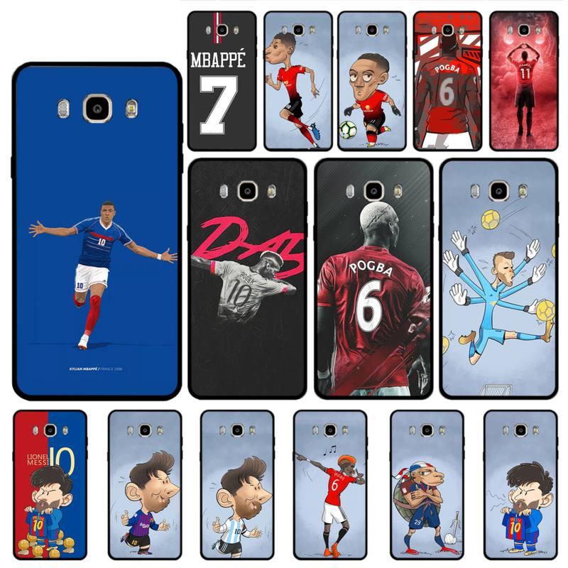 Estrella de fútbol Pogba, militar Rashford Messi Mbappe DIY, carcasa de lujo para teléfono Samsung Galaxy S3 S4 S5 S7 S6 Edge S8 Plus S9