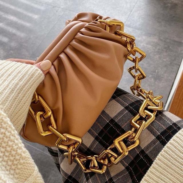 SNV Soft Leather Dumpling Chain Bag