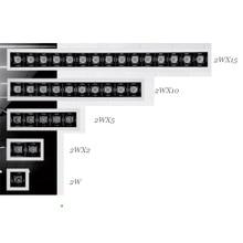 Равномерное освещение 2 Вт 2WX2 2WX5 Невидимый источник CRI90 встраиваемый Trimless DALI линейный светодиодный светильник beauty Outlook