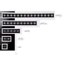 תאורה אחידה 2W 10W 20W 30W Invisible מקור CRI90 Dimmable טריאק 0 10V שקוע ליניארי Led Downlight מודרני בית מנורה