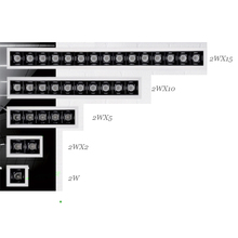 Iluminación uniforme, 2W, 10W, 20W, 30W, fuente Invisible, CRI90, TRIAC, atenuable, 0 10V, luz descendente Led lineal empotrada, lámpara moderna para el hogar