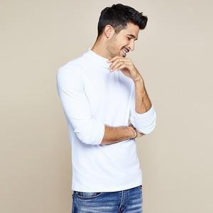 Image 5 - KUEGOU 2019 ฤดูใบไม้ร่วงผ้าฝ้ายสีขาวธรรมดาเสื้อ TShirt แบรนด์เสื้อยืดแขนยาว TEE เสื้อเสื้อผ้าแฟชั่น PLUS ขนาด TOP 803