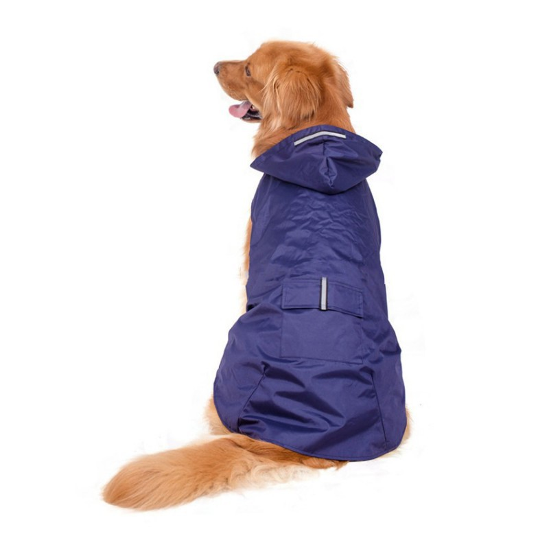 S-5XL Pet Dog Hooded Raincoat Puppy Pet Raincoat With Reflective Stripes Dog Outwear Waterproof Jackets Pet Dog Clothes Products