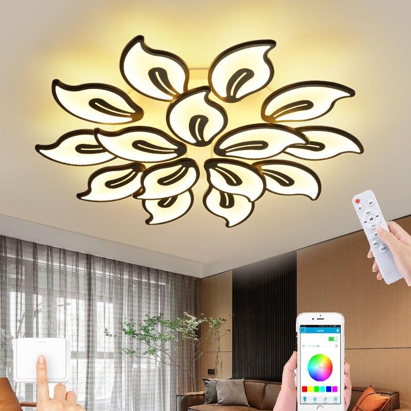 Люстра в форме цветка в новом стиле, Современная потолочная лампа в скандинавском стиле, универсальная лампа для гостиной и спальни