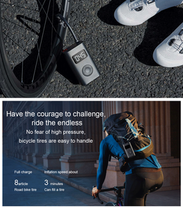 Image 3 - Xiaomi Mijia Inflator Portable Mini LED Smart Digital Tire Pressure Sensor Electric Pump For Bicycle Motorcycle Car Soccer