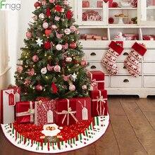Santa Claus 2019 Christmas Tree Skirt Faux Fur Merry Christmas Decorations For Home Ornaments Xmas Tree Decor Navidad New Year цена и фото