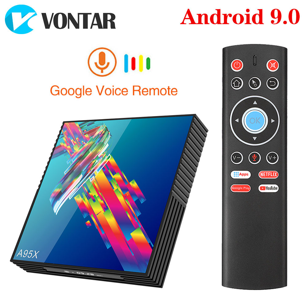 Top-Box A95x R3 Rockchip Rk3318 Android 9.0 Google-Player Pk-H96 4GB 64GB Store-Youtube-Set