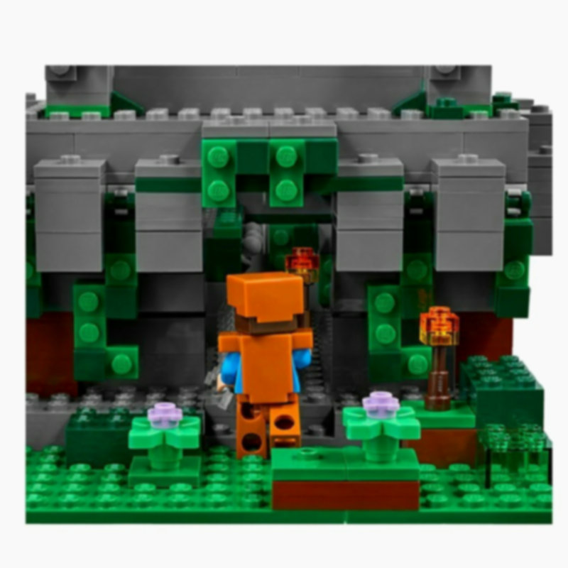 The Jungle Temple Building Block With Steve Action Figures Compatible LegoINGlys MinecraftINGlys Sets Toys For Children 21132 11