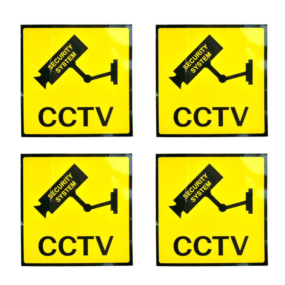 4pcs/lot Sunscreen Home CCTV Video Surveillance Security Camera Alarm Sticker Warning Decal Signs