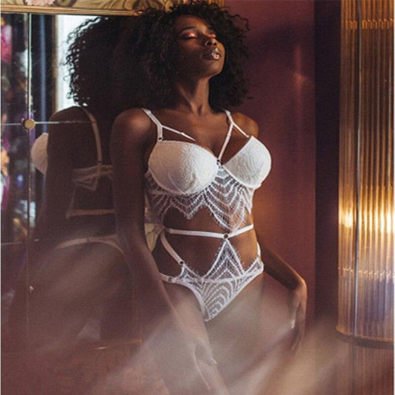 Erotic Lengerie Womens Sexy Underwear Sleepwear G-string Push Up Bra Lace Babydoll Nightwear Lengerie Bralette Thong Panties