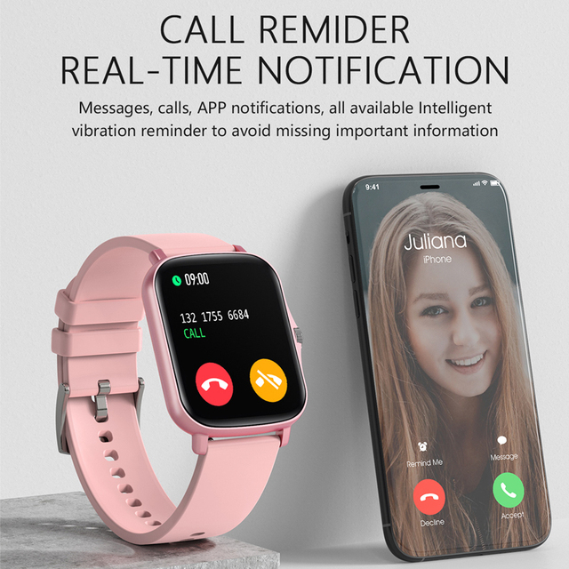 LIGE 2021 New Full touch Female Digital watch waterproof Sports suitable for Android IOS multifunction Electronic watch male+Box 5