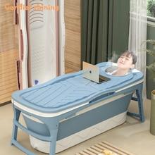 Cordial Shining Folding Adult BathTub Bucket Thicken Plastic Barrel Sweat Steaming Home Bath Tub