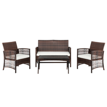 Double Seat 2 Single Seat Coffee Table Armrest Hollow Knit Combination Sofa Set for Home HFing