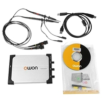 OWON VDS1022I Virtual USB Oscilloscope 100MSa/S 25M Double Channel PC Oscilloscope Probe USB Cable Tip Locating Sleeve