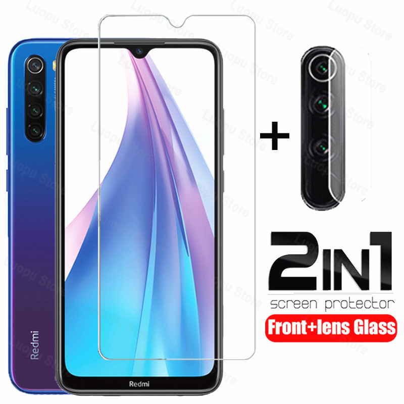 2 IN 1 Glass for Xiaomi Redmi Note 8T note 7 note 8 pro red mi 8A 7A Screen protector Protective Glass for Redmi Note 8 8T glass(China)