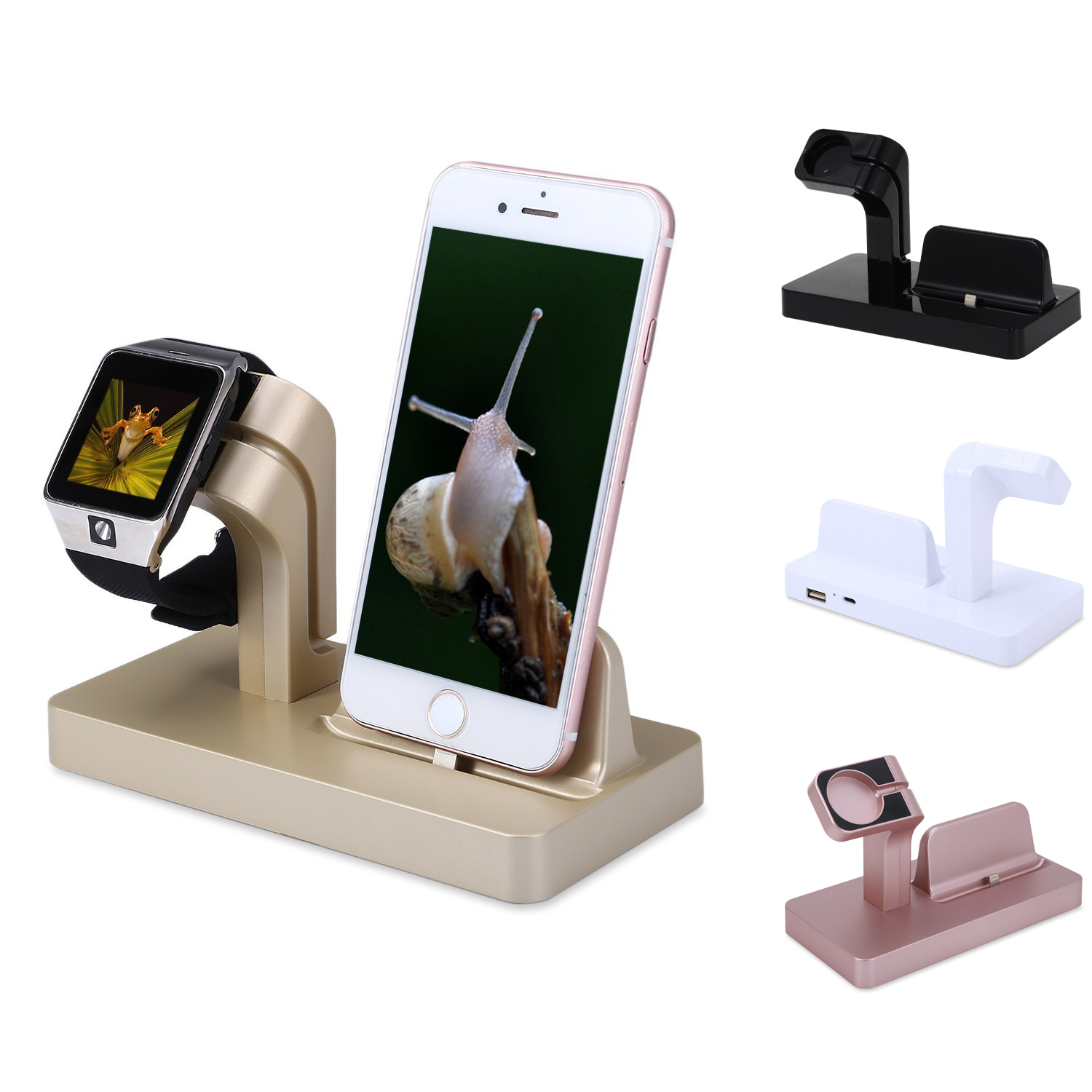 Watch Charging Stand Iwatch 6 5 4 3 SE for Apple Watch 44mm 42mm 38mm 40mmwatch Phone Two-in-one Charging Base Accessories
