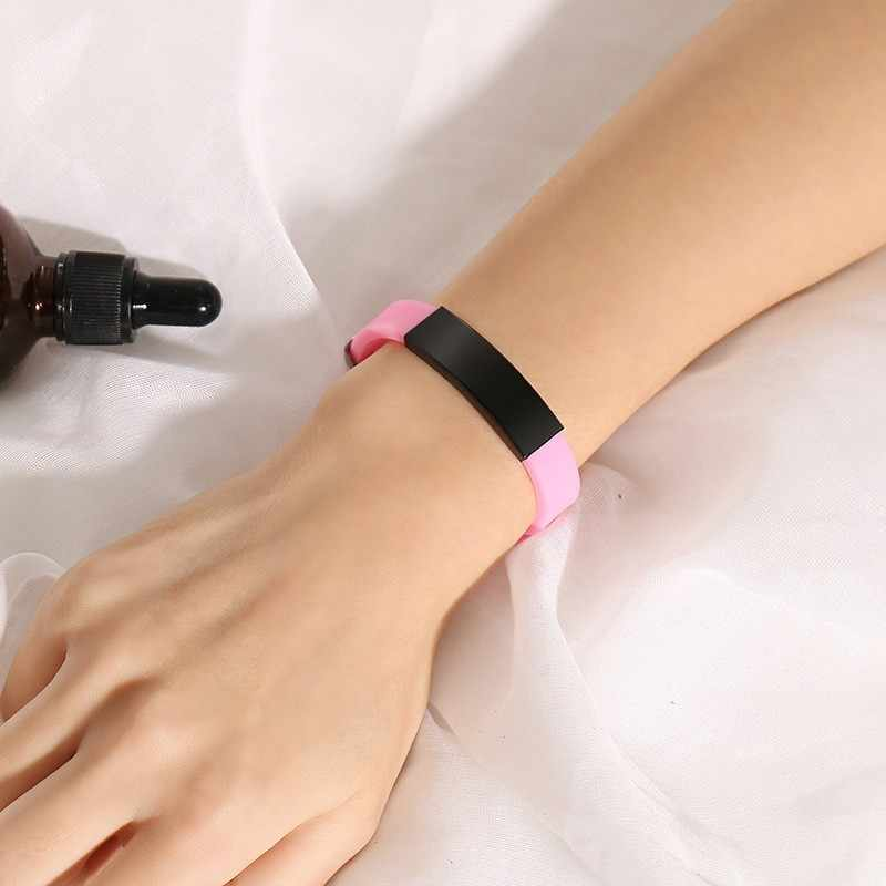 Бесплатный пенсонизированный ледяное Имя Адрес анти-потеря настроить браслет для детей в возрасте дети 4 цвета Силикон
