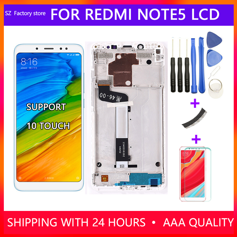 Screen Replacement For Xiaomi <font><b>Redmi</b></font> <font><b>Note</b></font> <font><b>5</b></font> <font><b>Pro</b></font> <font><b>LCD</b></font> Display & Touch Screen Digitizer Assembly For <font><b>Redmi</b></font> <font><b>Note</b></font> <font><b>5</b></font> Snapdragon 636 image