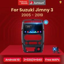 Junsun V1 أندرويد 10 AI التحكم الصوتي 4G Carplay DSP راديو السيارة مشغل وسائط متعددة لتحديد المواقع لسوزوكي جيمي 3 2005 - 2019 2din لا dvd