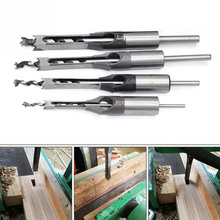 цена на Carpenter Square Drill Bit Tool Woodworking Bit Hole Drill Guide Positioner Hole Saw Mortise Chisel Wood Drill Bit with Twist