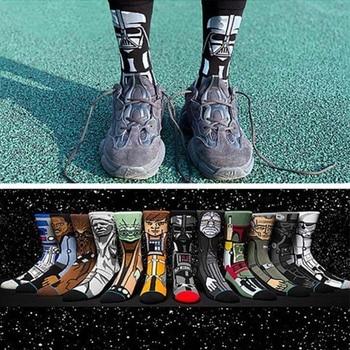 Star Wars Jedi Knight Master Yoda C-3PO Wookiee Cosplay Socks Comics Women Men Force Awakens Socks Lovely Gifts цена 2017