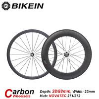 Bikein t700 3k 700c de carbono ciclismo bicicleta estrada roda clincher tubular frente 38mm traseiro 50/60/88mm ultraleve bicicleta rodado peças|Roda de bicicleta| |  -