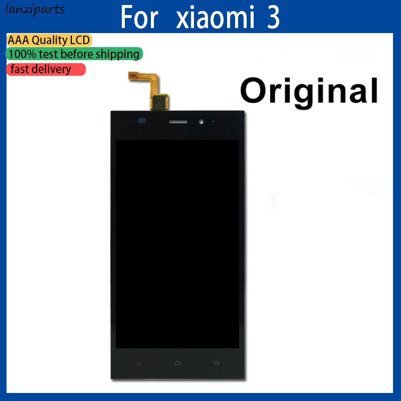 100% Original LCD for <font><b>Xiaomi</b></font> Mi 3 LCD <font><b>Display</b></font> Touch Screen Digitizer Assembly Replacement parts for <font><b>Xiaomi</b></font> <font><b>Mi3</b></font> WCDMA LCD Screen image