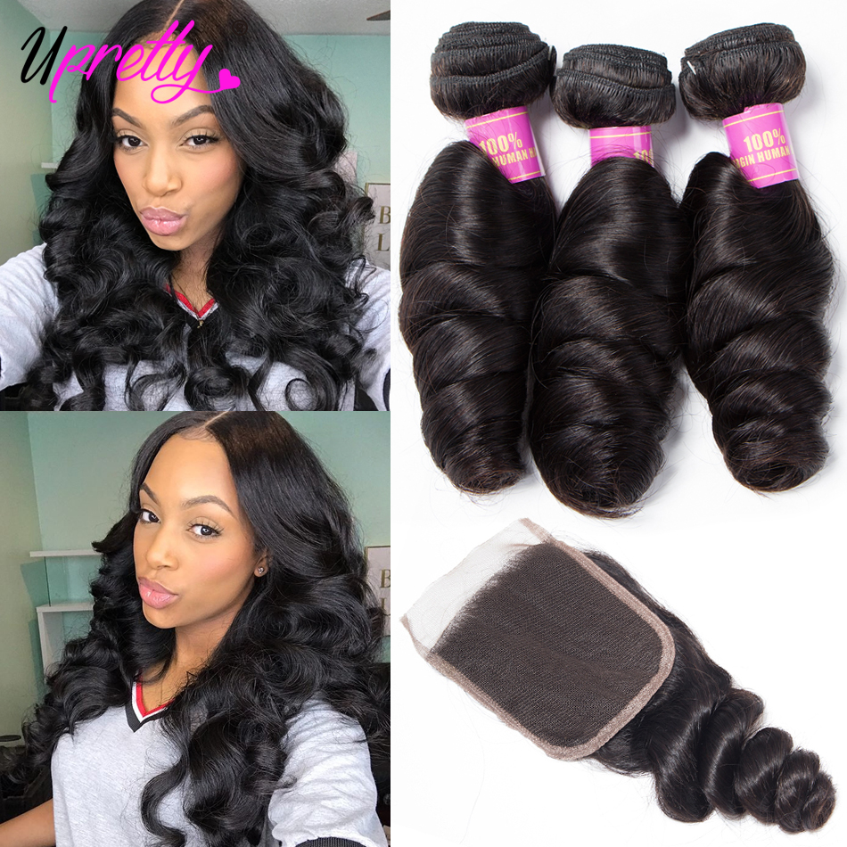 Hec5b43028eb44b64a45e4766d18a0f58u Upretty Hair Loose Wave Bundles With Lace Closure 6x6 5x5 Closure With Bundles Brazilian Remy Human Hair Bundles With Closure