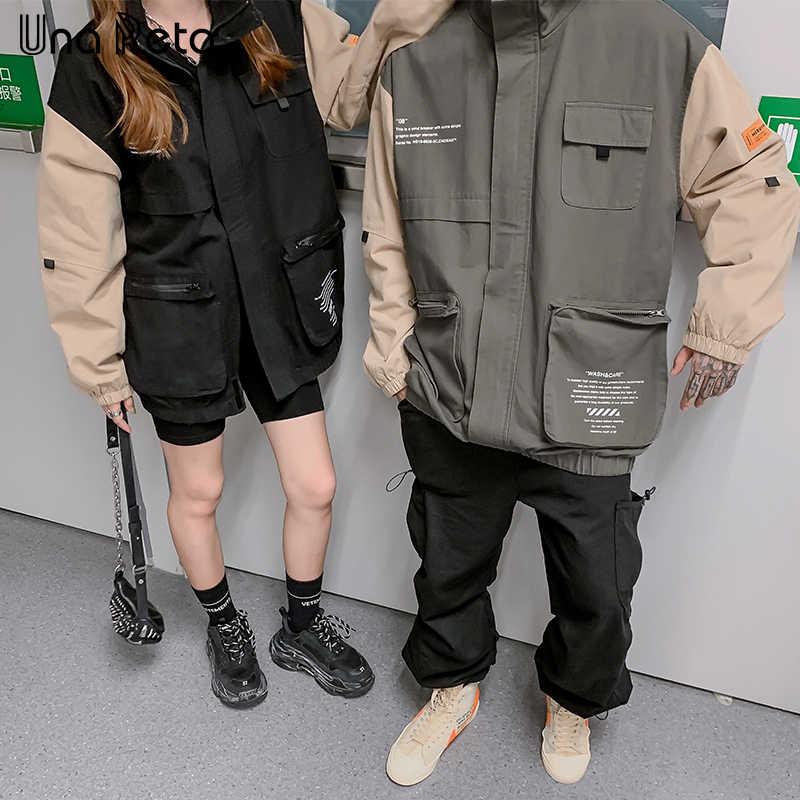 UnaReta куртка пальто для мужчин новая пара ветровка пальто для женщин Harajuku Хип Хоп Ретро волшебный цвет печать куртка Мужская Уличная