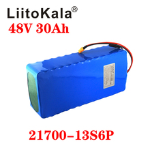 LiitoKala 48V 30ah 21700 5000mAh 13S6P ebike battery 20A BMS 48v battery Lithium Battery Pack For Electric bike Electric Scooter kluosi 7s5p 24v battery 29 4v 17 5ah ncr18650ga li ion battery pack with 20a bms balanced for electric motor bicycle scooter etc
