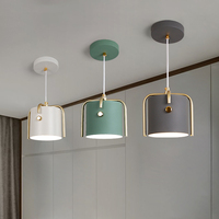 Nordic luzes pingente de ferro iluminação led luz branco/cinza/verde pingente lâmpada sala estar jantar cozinha loft lâmpada pendurada|Luzes de pendentes| |  -