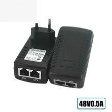 Adaptador de alimentação do cctv do injetor de poe ethernet 15.4w, poe pin4/5(+),7/8(-) compatível com ieee802.3af para câmeras ip do cctv