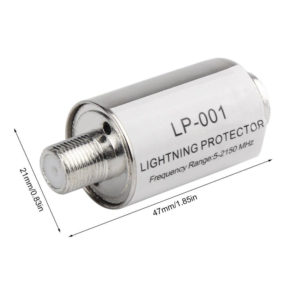 Купить с кэшбэком Lighting Arrester Coaxial Satellite TV Lightning Protectors Satellite Antenna Lightning Protection 5-2150MHz