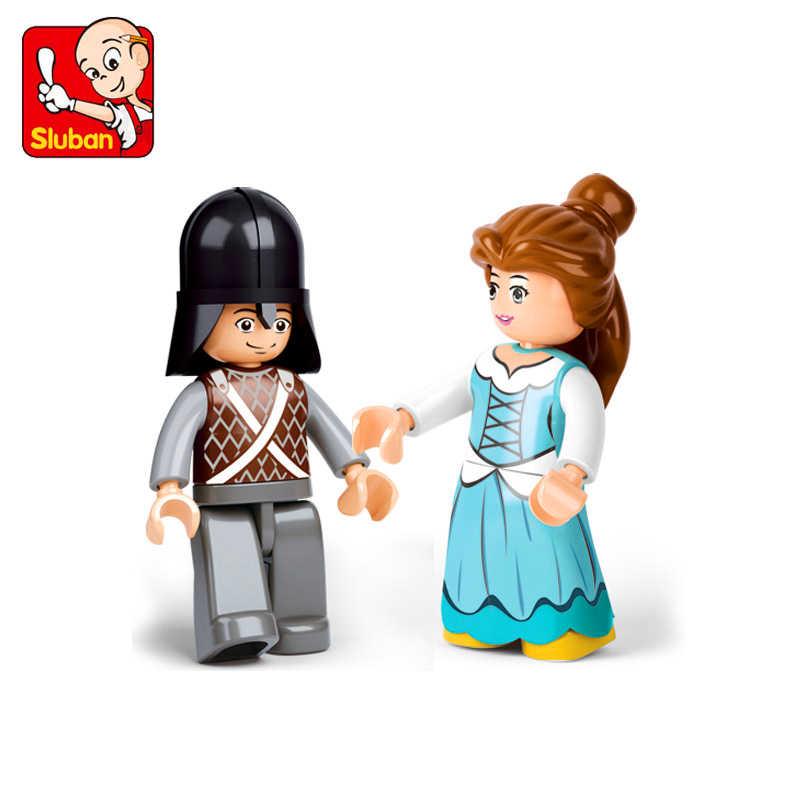 Sluban 0239 99 pçs amigos menina real carruagem vagão blocos de construção tijolo compatível técnica playmobil brinquedos para crianças