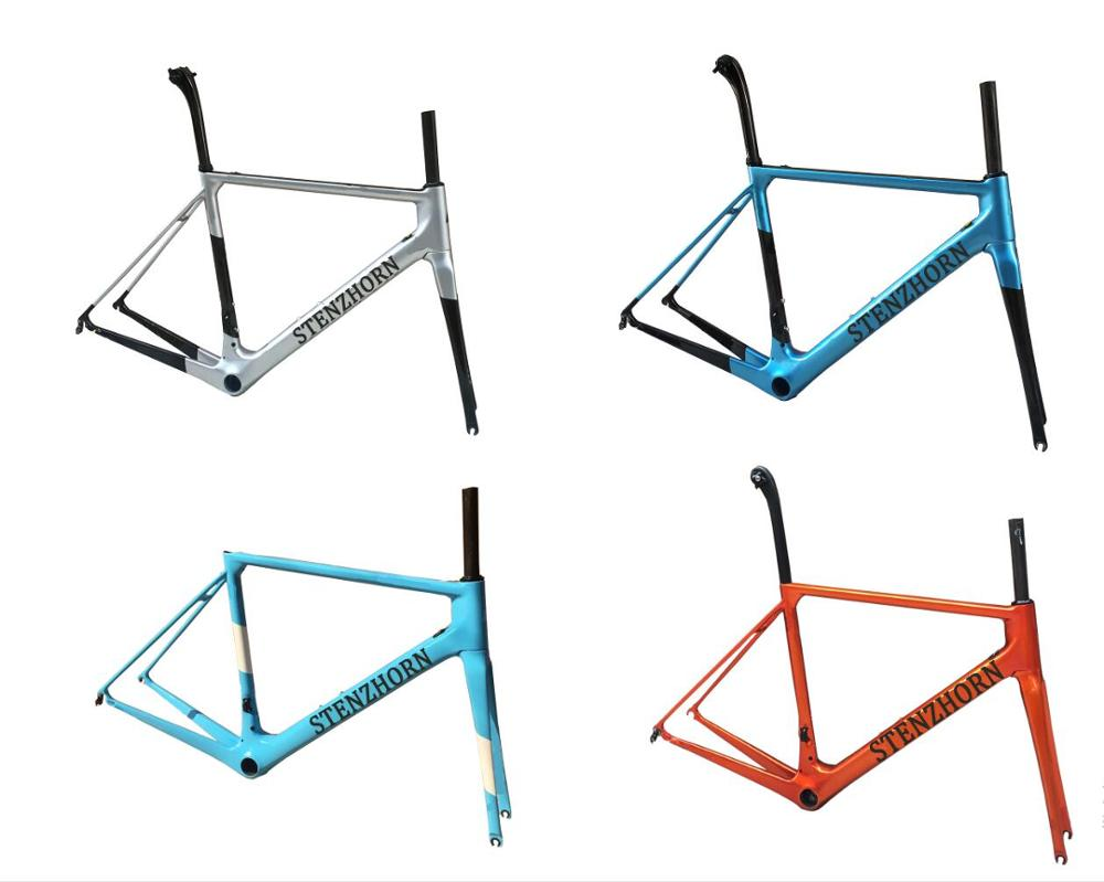 Hot! 2019 High Quality New Arrival Stenzhorn O2 Carbon Road Frame With Different Color,frame+fork+seat Post+headset+clamp