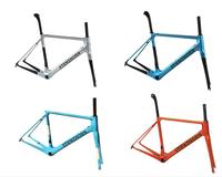 Hot! 2019 high quality new arrival stenzhorn o2 carbon road frame with different color frame+fork+seat post+headset+clamp